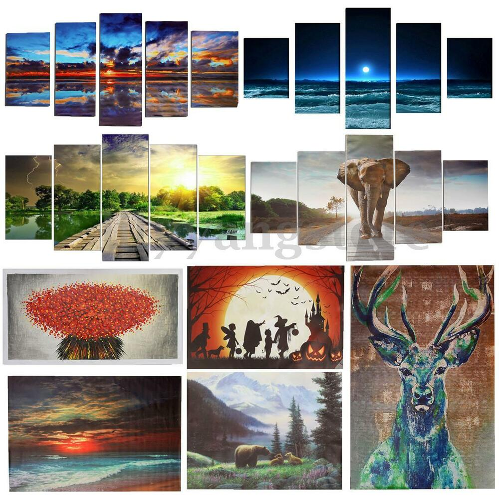 Large Canvas Modern Abstract Art Oil Painting Picture Home