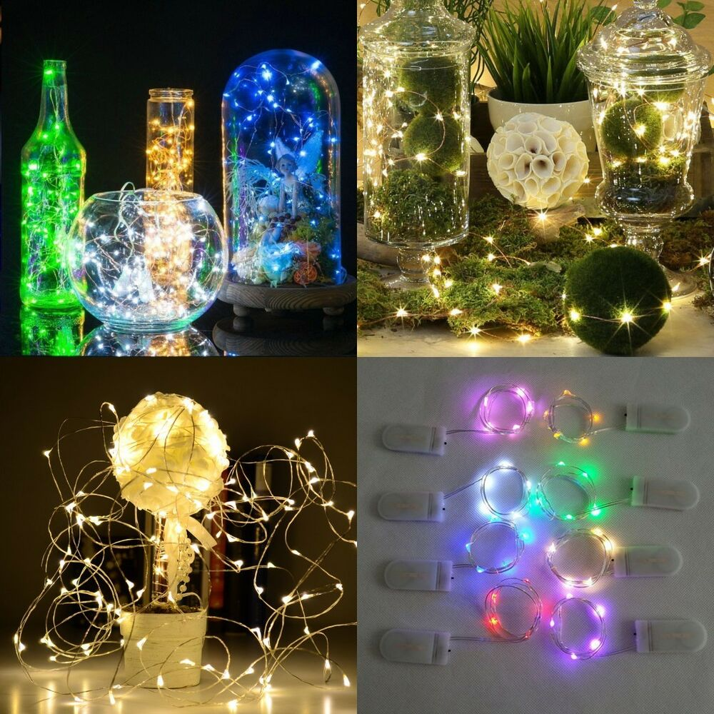 1M 10 LEDs Button Battery Operated Mini LED Copper Wire String Fairy Lights Lamp eBay