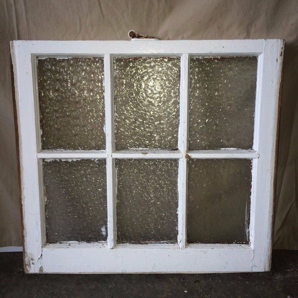 Old antique florentine privacy glass wood house 6 lite for 16 window