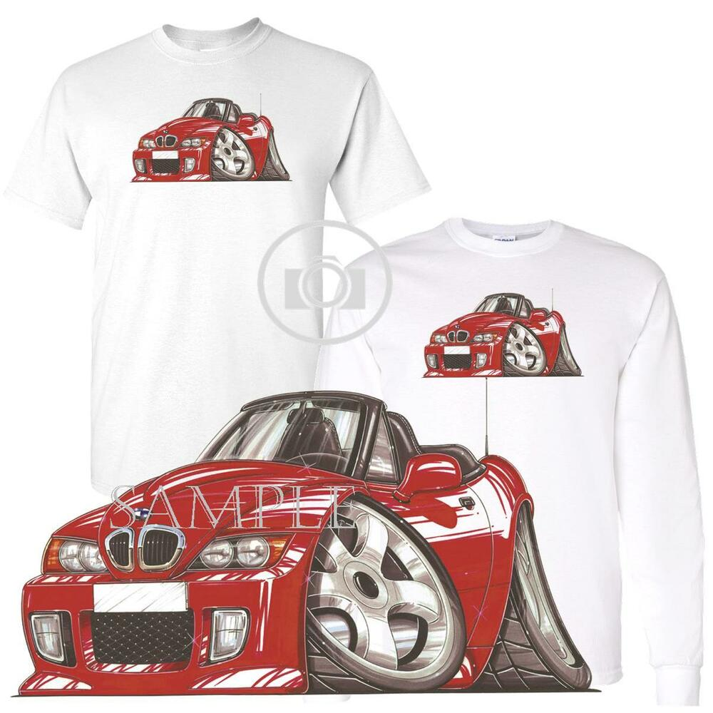 Bmw Z3 Roadster Convertible Red Koolart Car Cartoon Art