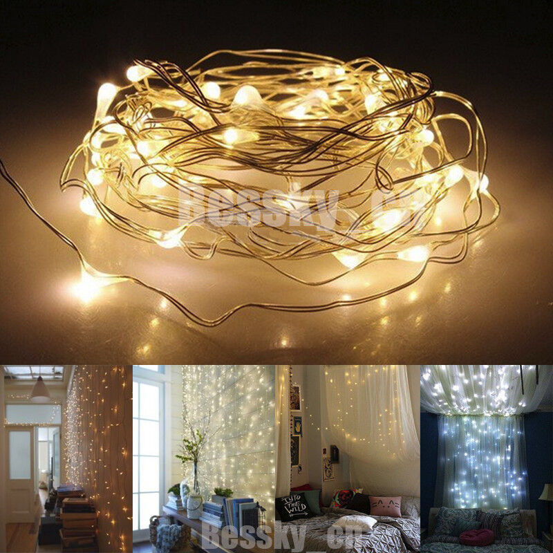 5M 50LED String Light Battery Operated Decor Xmas Fairy Lights Party Wedding eBay