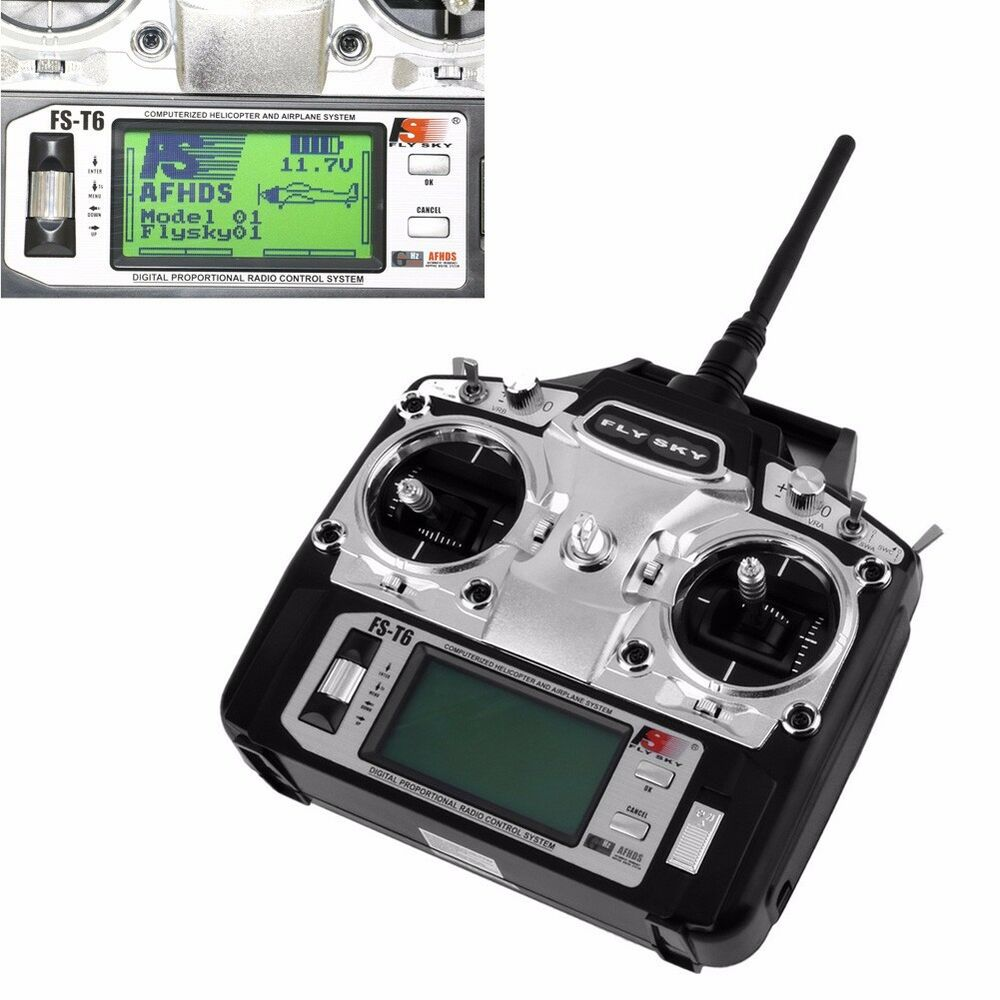 flysky fs t6 2 4ghz 6ch transmitter receiver for rc multicopter helicopter plane 664694258194 ebay. Black Bedroom Furniture Sets. Home Design Ideas