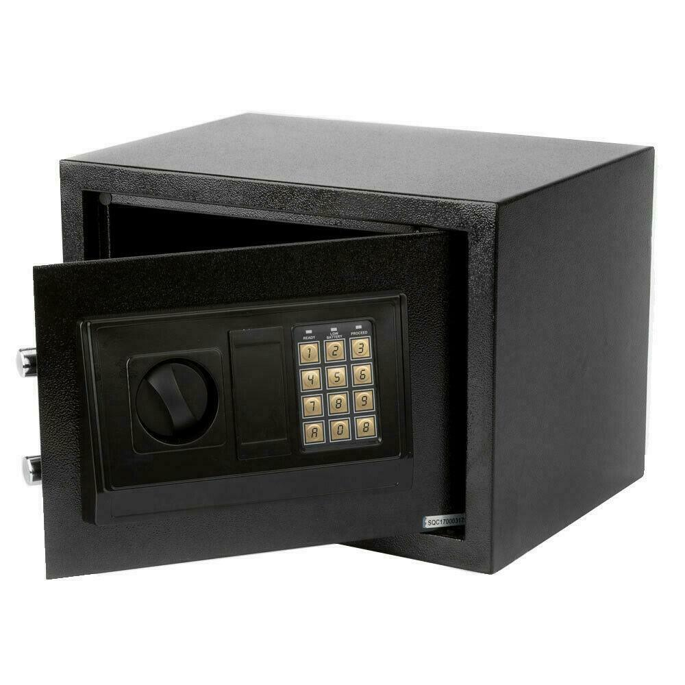 Small safe box digital electronic keypad lock depository for Small safe box for home