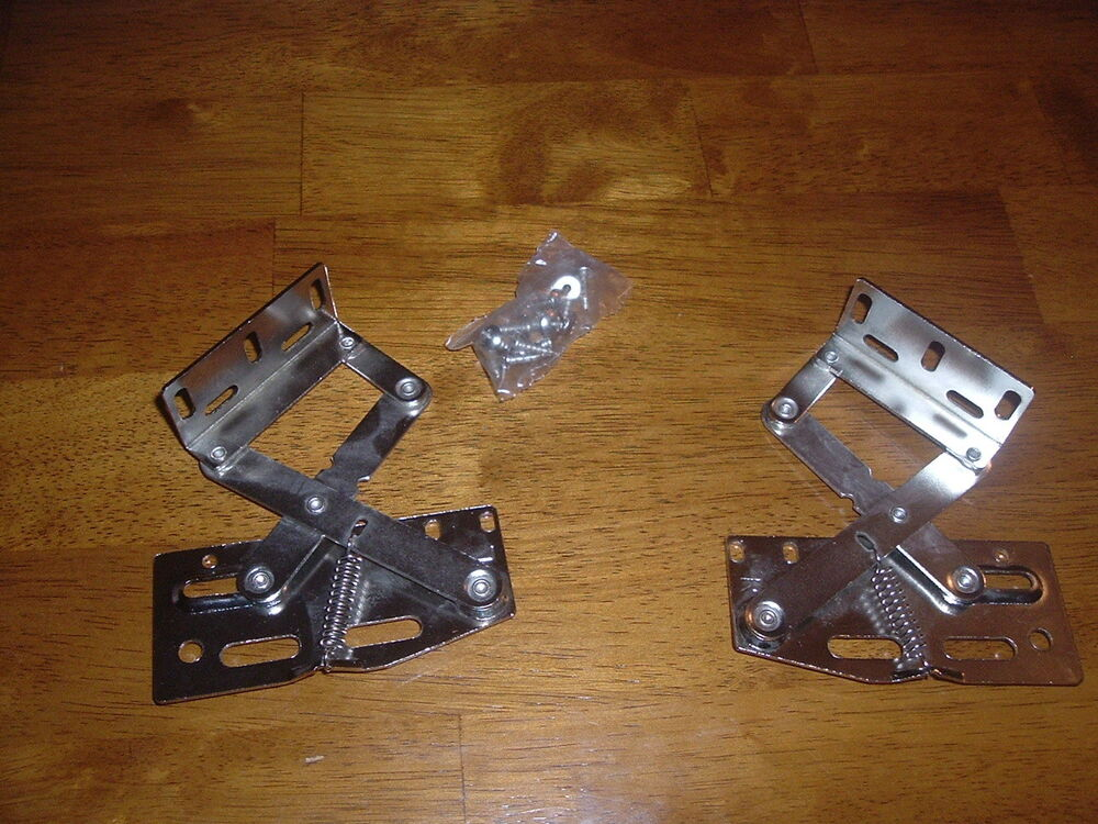 Box Lid Hinges : Pair of lid hinges degree for chest seat trunks boxes