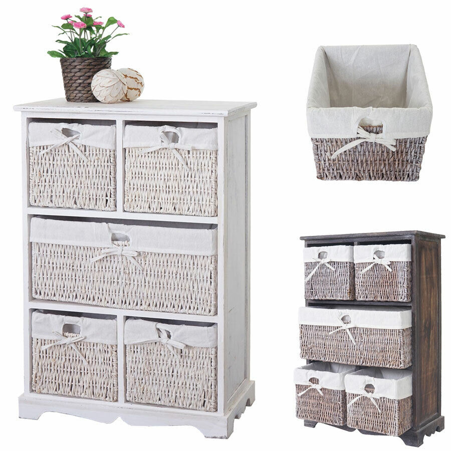 kommode dundee schubladenschrank shabby look vintage 90x60x30cm ebay. Black Bedroom Furniture Sets. Home Design Ideas