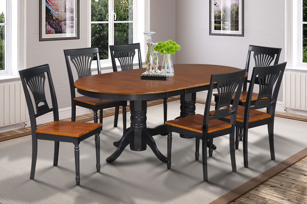Somerville Oval Dinette Dining Room Table Set In Black