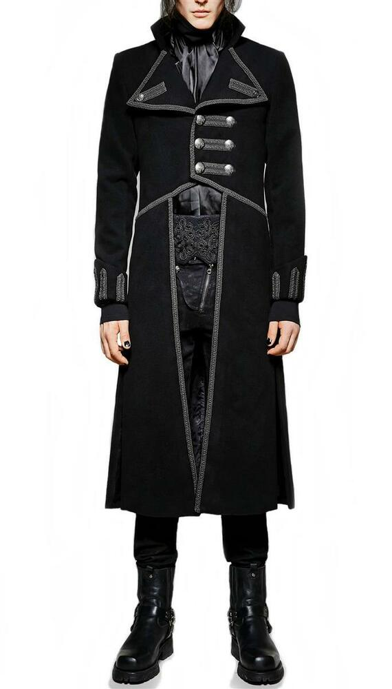 herren mantel trenchcoat punk rave gothic jacket. Black Bedroom Furniture Sets. Home Design Ideas