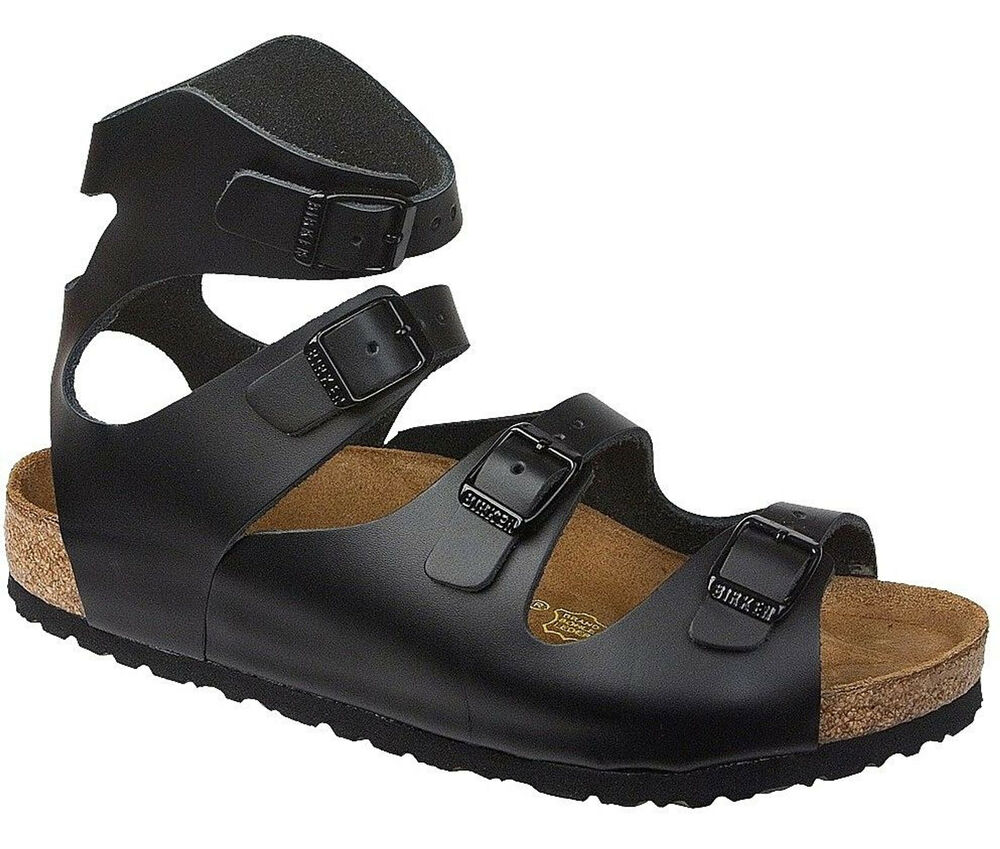 Birkenstock Athen Sandals Leather Smooth Shoes Gladiator ...