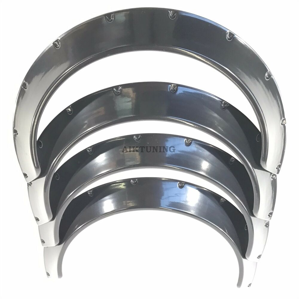 Over Fender Flares Wheel Arch Extensions Wide Body Set Of 4 Jdm Arches Trims Rl Ebay
