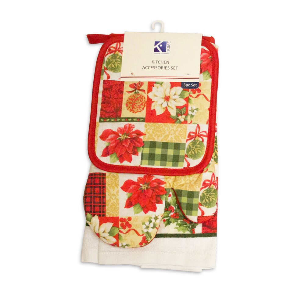 Kitchen Hand Towel Pot Holder Set