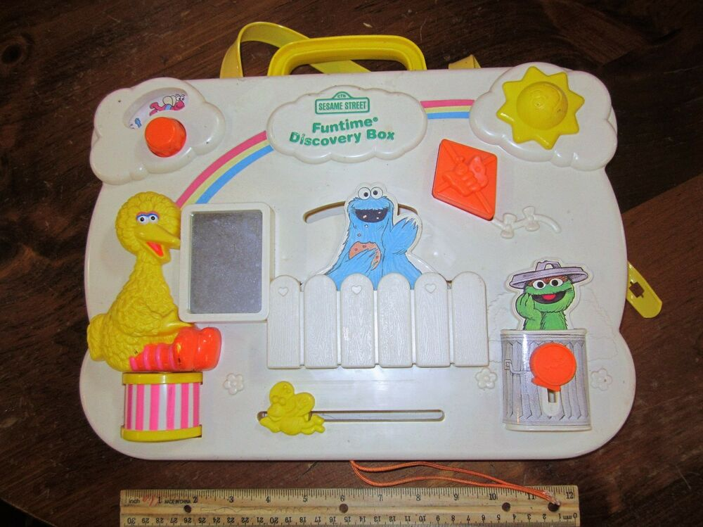 Vintage Fisher Price Busy Box Board Activity Center Baby