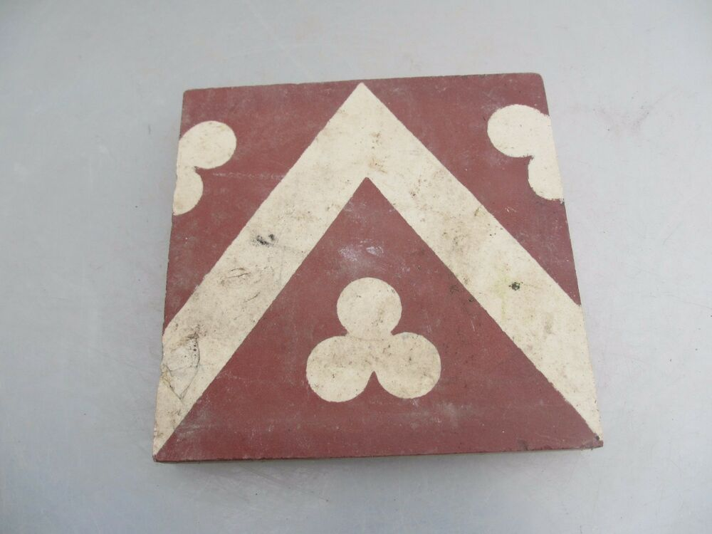 Original Victorian Ceramic Floor Tile Architectural