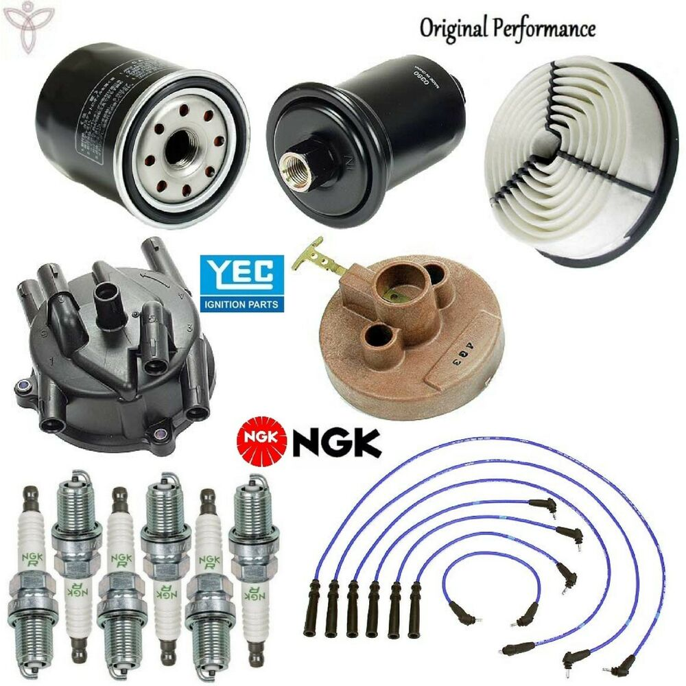 Tune Up Kit Air Oil Fuel Filters Spark Plugs For Toyota 4runner V6 2001 Filter 30l 92 95 Ebay