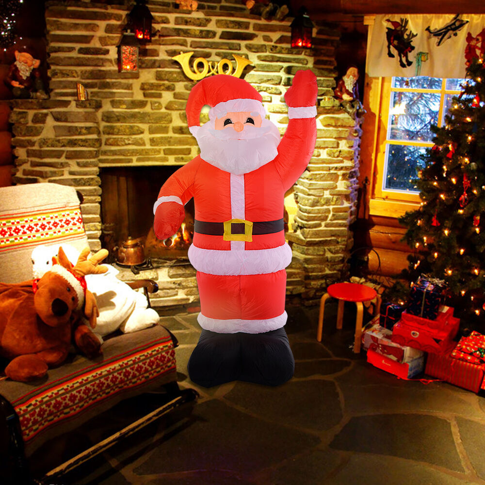 Santa Claus Decorations Uk: 8Ft Airblown Inflatable Christmas Xmas Santa Claus