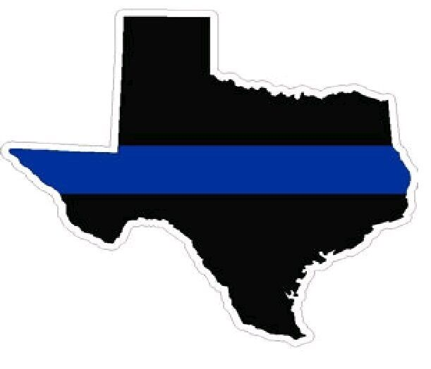 4 inch reflective texas thin blue line sticker decal ebay. Black Bedroom Furniture Sets. Home Design Ideas