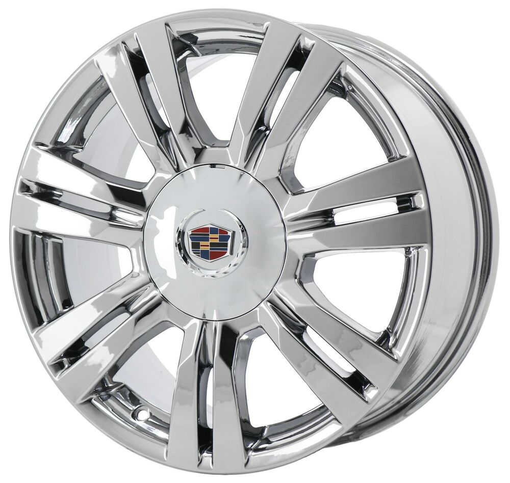 18 Quot Cadillac Srx Pvd Chrome Wheel Rim Factory Oem 2012