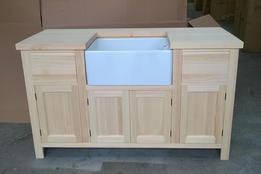 Solid Pine Sink Kitchen Unit INCLUDING New Belfast Sink EBay