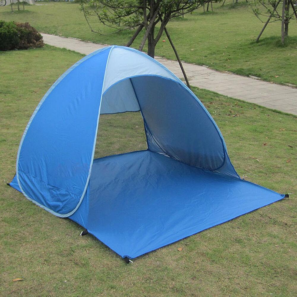 Tent Portable Shelter : Outdoor anti uv pop up instant portable cabana beach tent