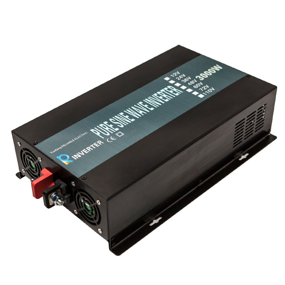 Pure Sine Wave Inverter 3000w Power Inverter 48v To 120v Off Grid Led Display 714686713795