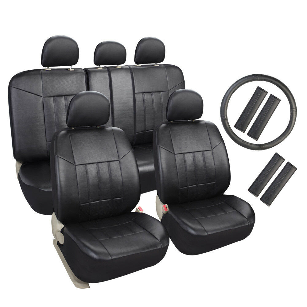 Auto Universal Fit Leather Seat Covers Set For Car Suv