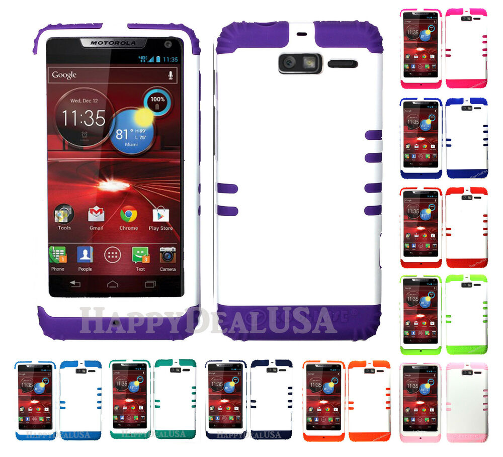 ... Hybrid Cover Case for Motorola Droid Razr M XT907 - White (R) : eBay
