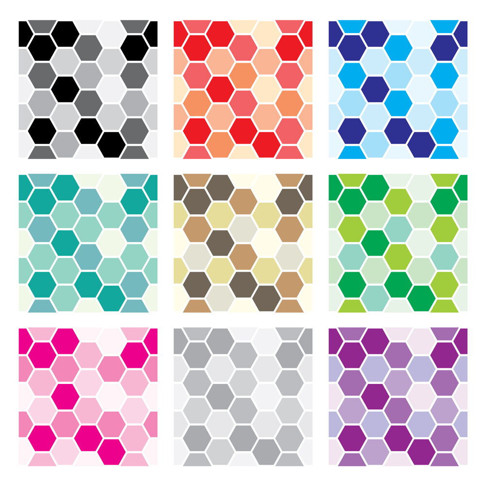 Tile stickers transfers kitchen bathroom 150mm custom sizes mosaic hexagon ebay