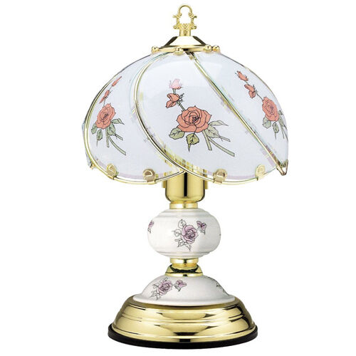 """14"""" BEDROOM OFFICE POLISHED BRASS TABLE TOUCH LAMP LIGHT"""