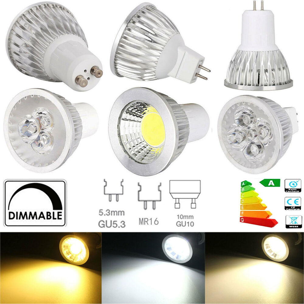 cree gu10 mr16 gu5 3 dimmable led spotlight bulb 6w 9w 12w 15w cob epistar lamp ebay. Black Bedroom Furniture Sets. Home Design Ideas