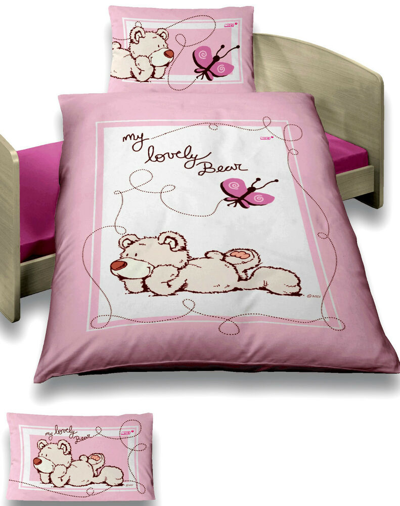baby bettw sche 100x135 cm nici b r schmetterling rosa ebay. Black Bedroom Furniture Sets. Home Design Ideas