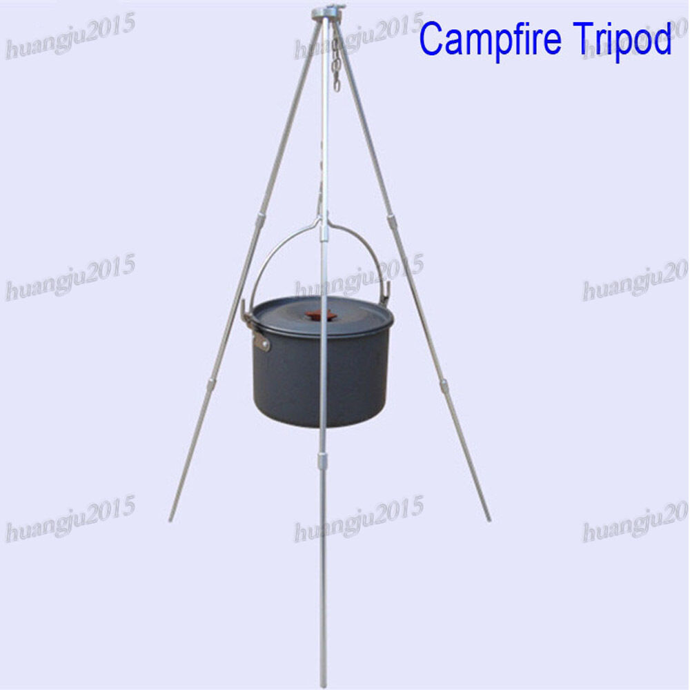 how to make a campfire tripod grill