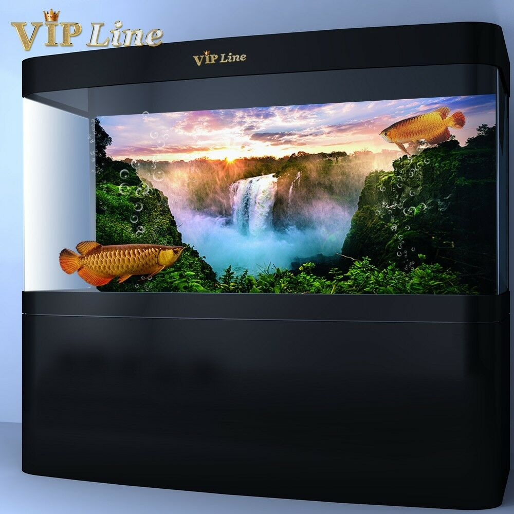 Waterfall pvc aquarium background poster fish tank for Aquarium waterfall decoration