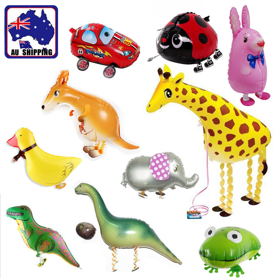 Car walking giraffe animals balloon zoo jungle party for Animals decoration
