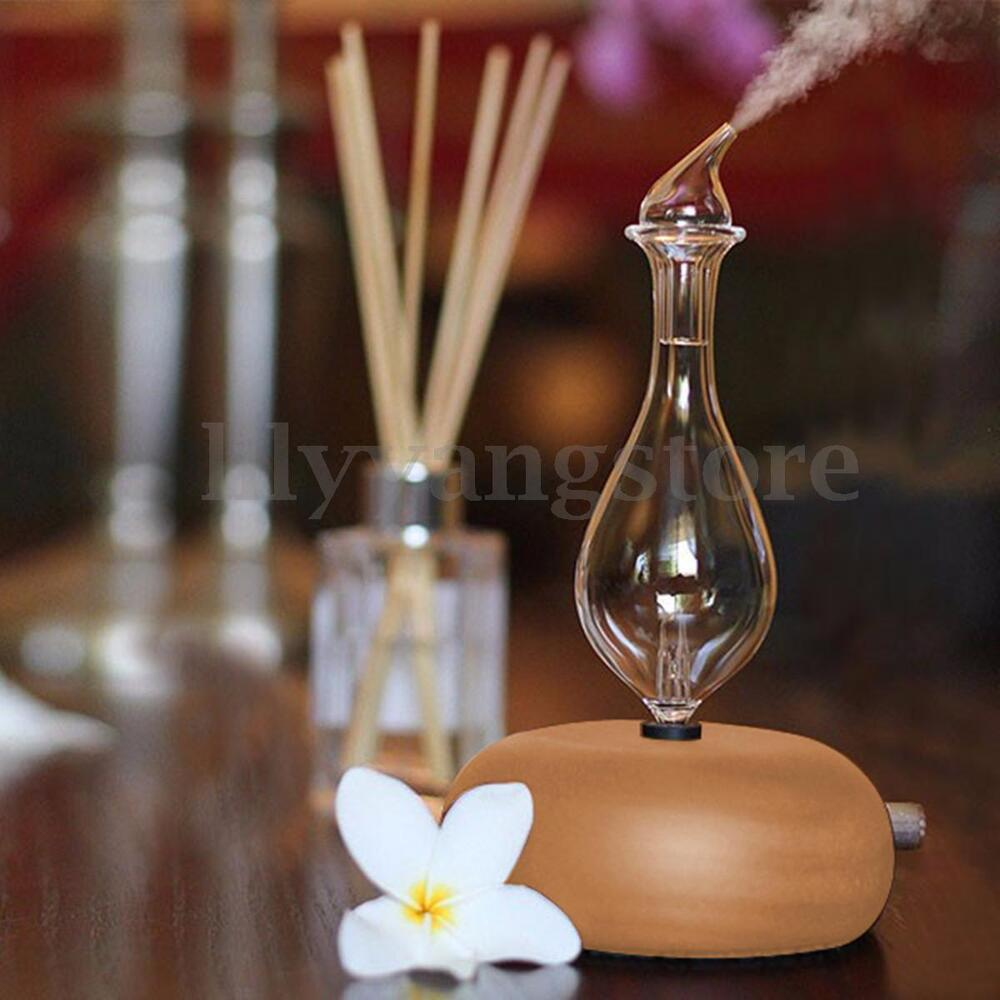 Aromatherapy Nebulizer Diffuser ~ Wood glass aromatherapy essential oils diffuser air