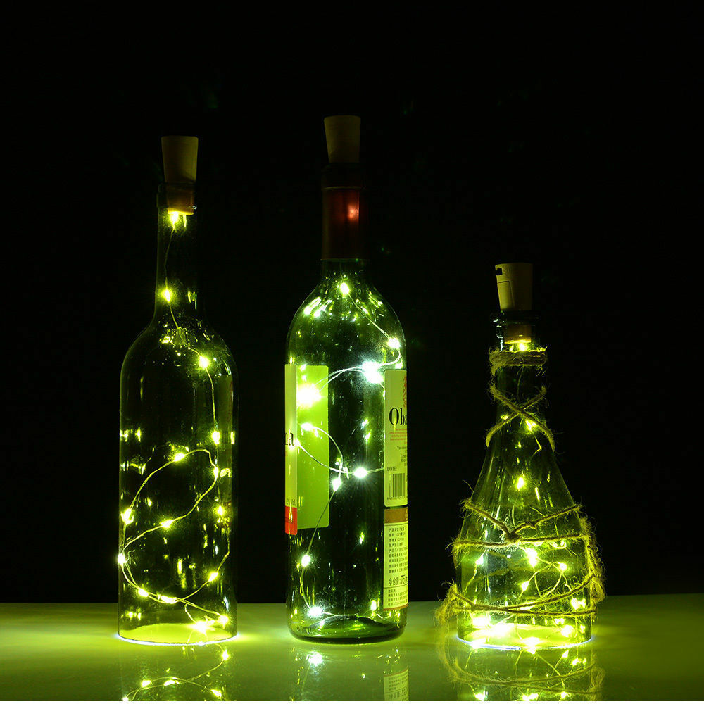 15led Cork Shaped Led Night Light Starry Light Wine Bottle