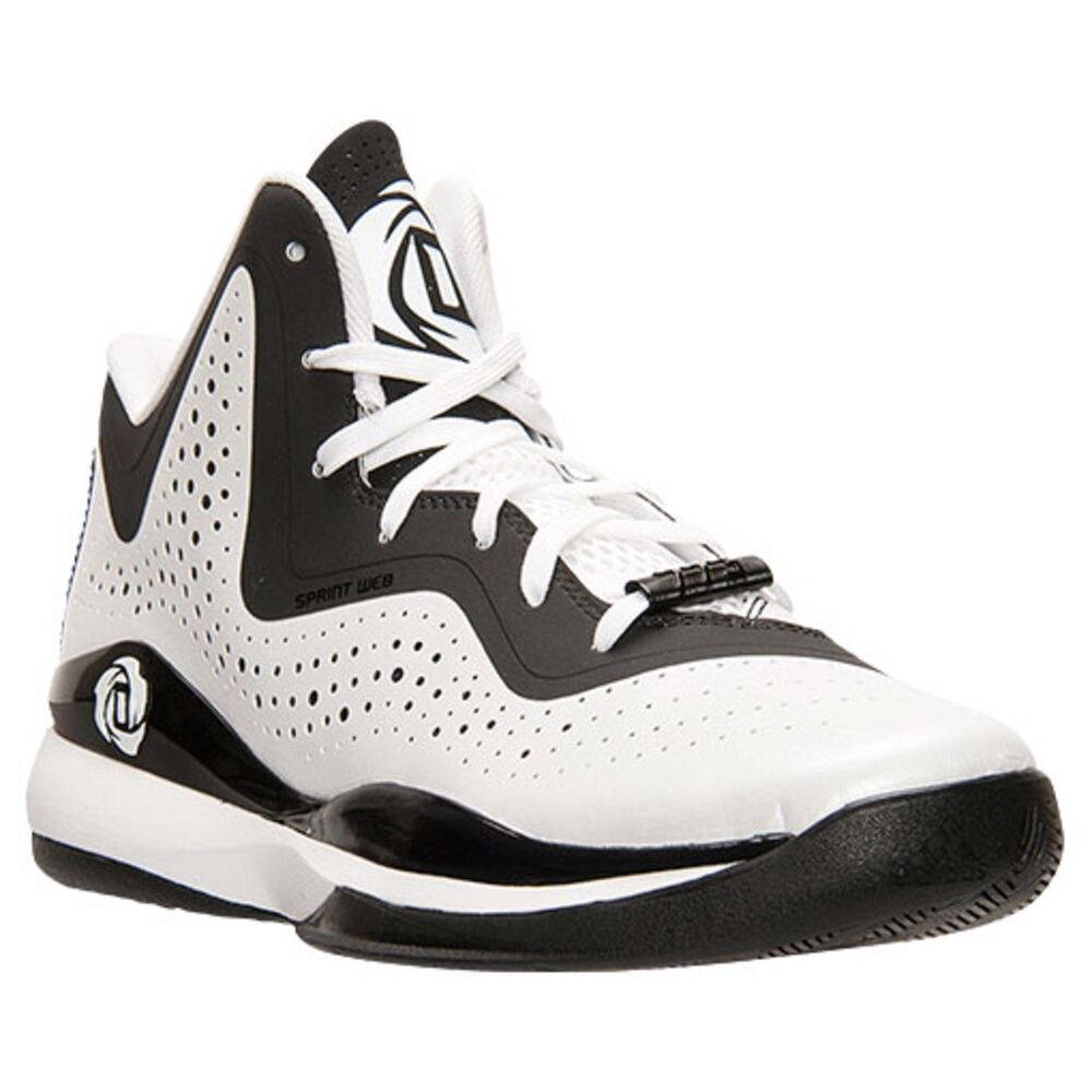 5607c09cf3cf Details about Adidas D Rose 773 III mens basketball trainers shoes white  black C75720