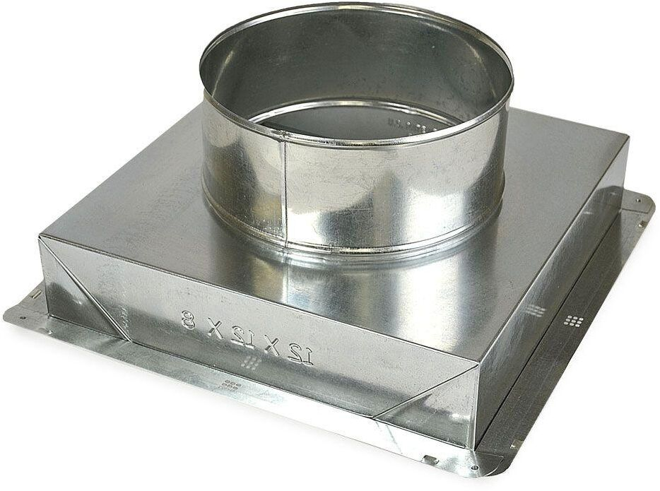 12x12x10 In Galvanized Steel Ceiling Register Box Hvac