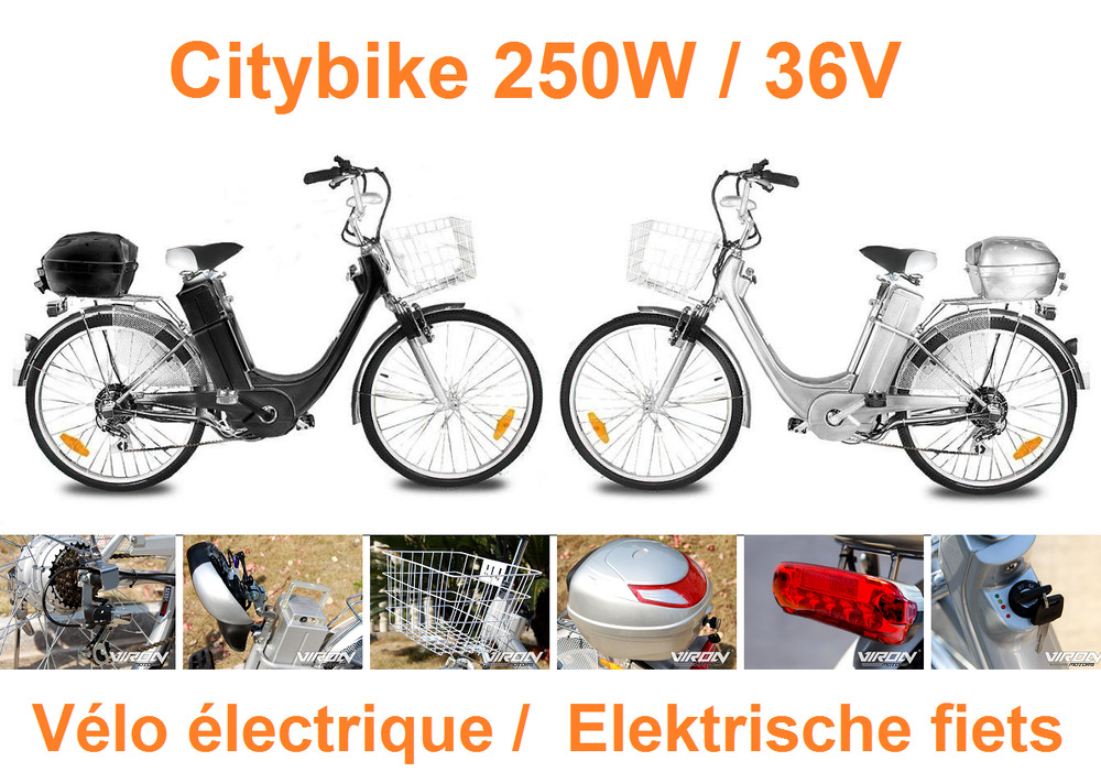 v lo lectrique de elektrische fiets citybike 250w 36v ebay. Black Bedroom Furniture Sets. Home Design Ideas
