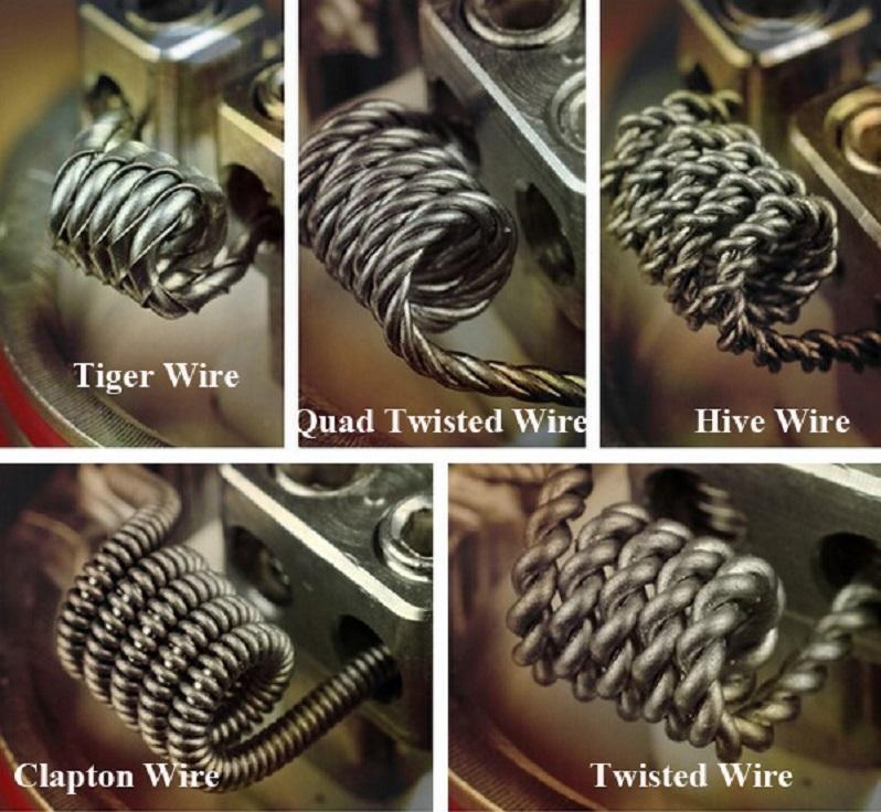 Wotofo Premade 10FT Rolls Clapton-Twisted-Tiger-Twisted