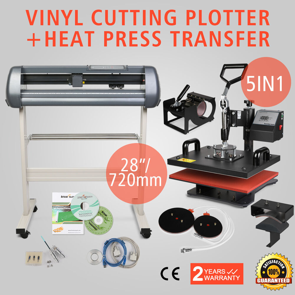 5in1 heat press transfer kit 28 vinyl cutting plotter digital machine t shirt ebay. Black Bedroom Furniture Sets. Home Design Ideas