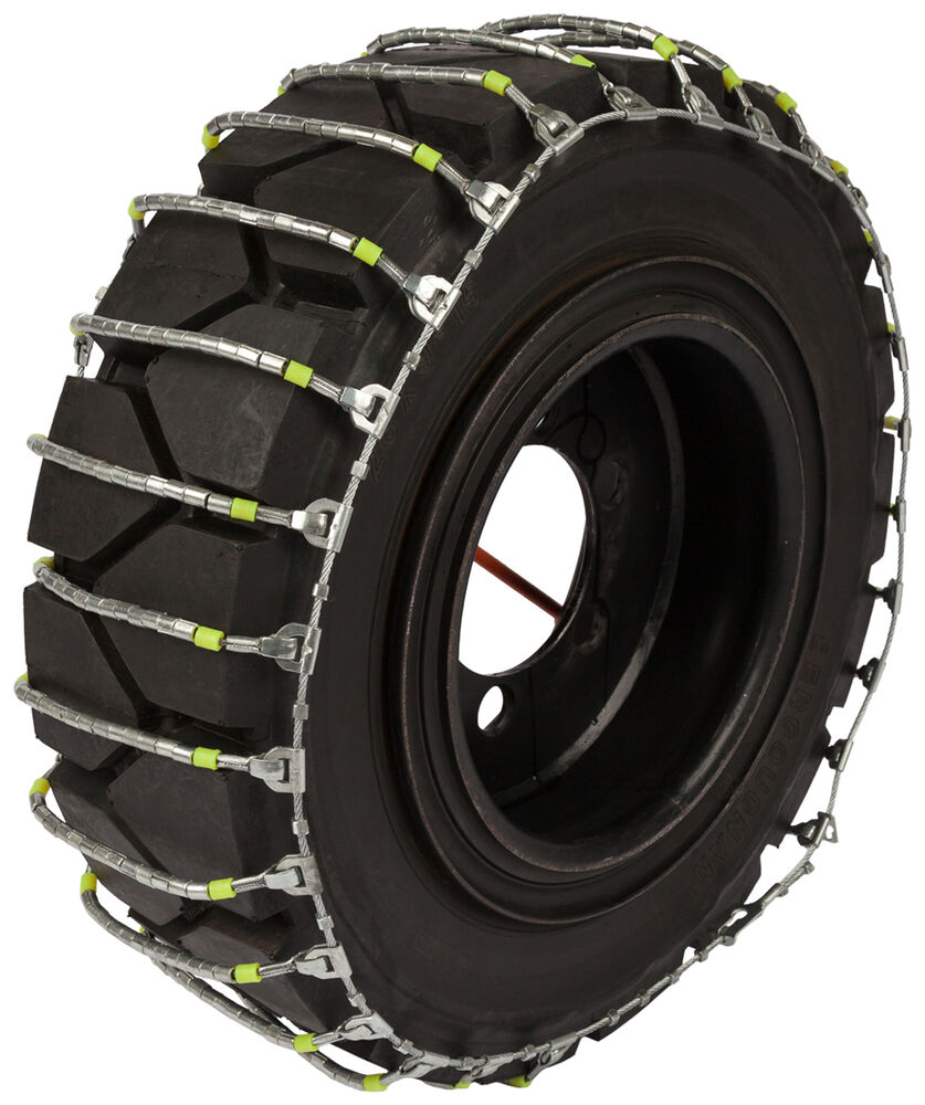 28x12x15 forklift cable tire chains hyster lift truck snow ice traction ebay. Black Bedroom Furniture Sets. Home Design Ideas