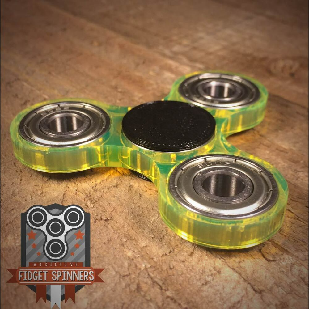 Toys For Caps : Acrylic edc spinner tri bar fidget toy with caps ebay