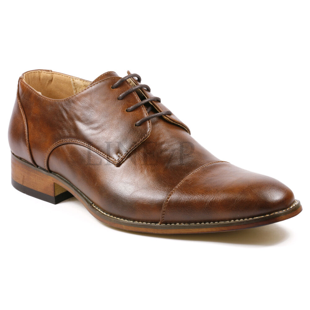 Menu0026#39;s Cap Toe Lace Up Oxford Fashion Dress Shoes | EBay