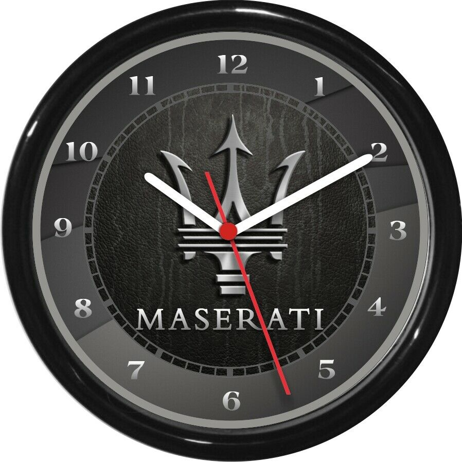 "Maserati Wall Clock 10"" Garage Work Shop Gift Father's Day ..."