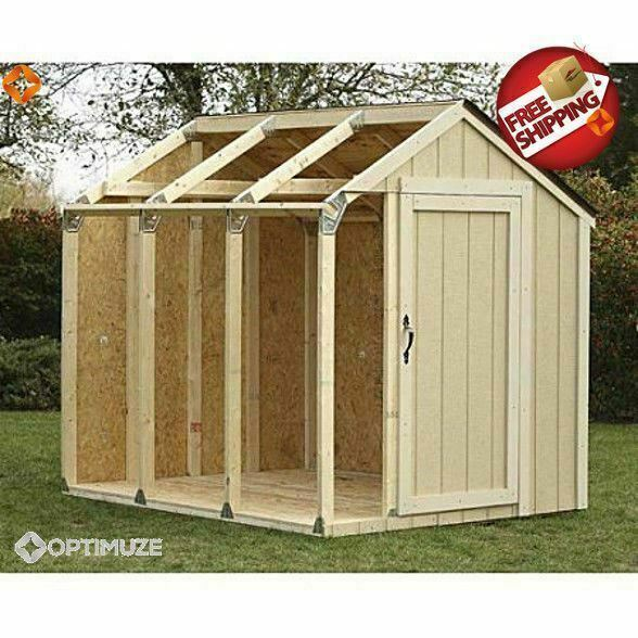 Outdoor storage shed diy building kit garden utility for Backyard house kits