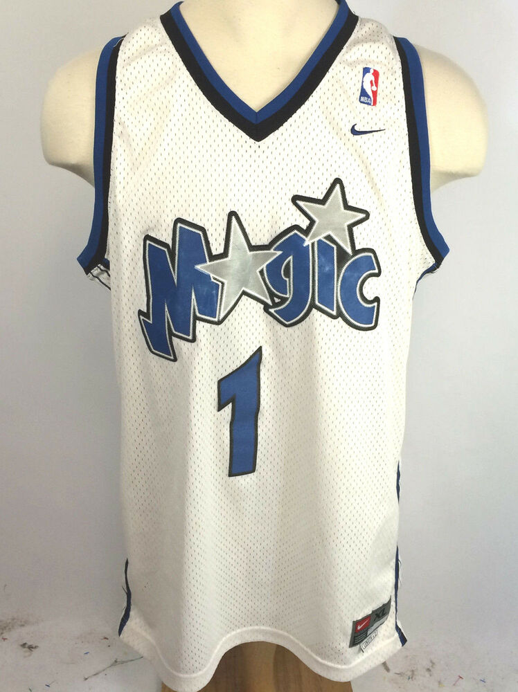 ba6c4110f Vintage 90s NBA Nike Orlando Magic Tracy McGrady  1 Jersey sz XL +2 Length
