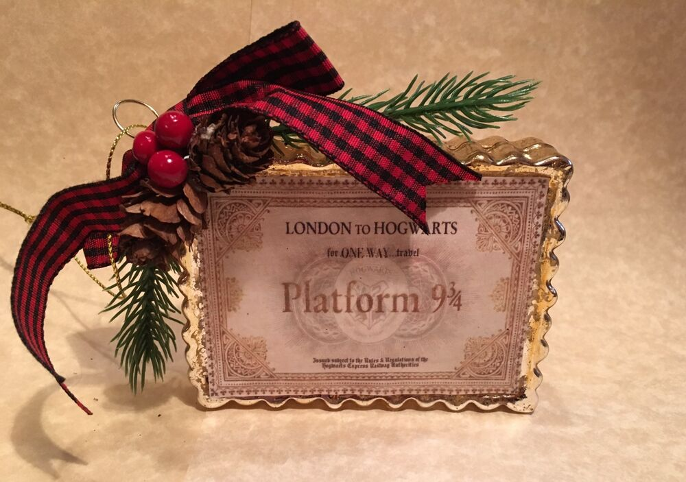 HANDMADE HOGWARTS EXPRESS TICKET CHRISTMAS ORNAMENT FOR ...