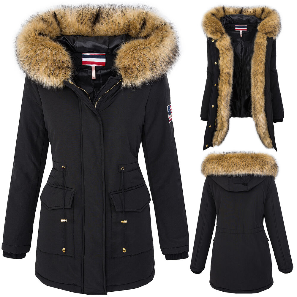 outdoor damen parka winterjacke damen jacke warm xxl. Black Bedroom Furniture Sets. Home Design Ideas