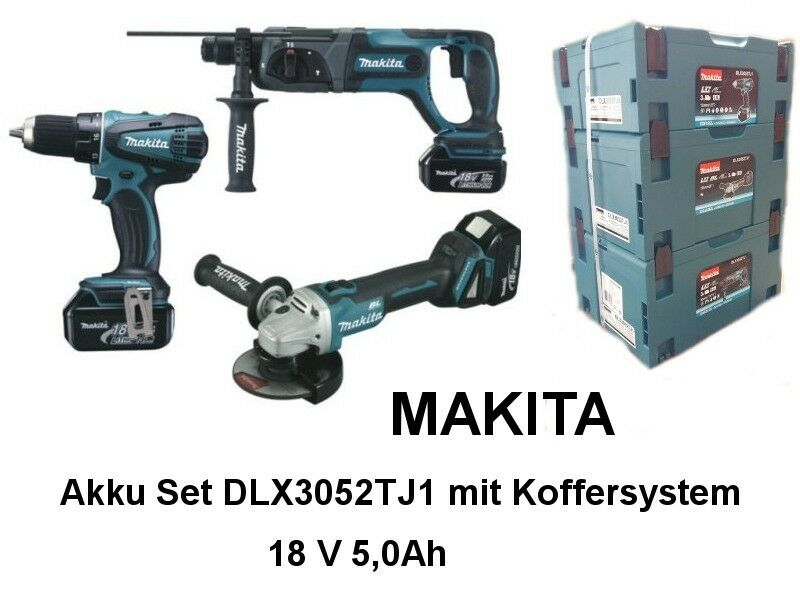 makita akku set dlx3052tj1 3 ger te 18v 5 0ah mit ebay. Black Bedroom Furniture Sets. Home Design Ideas