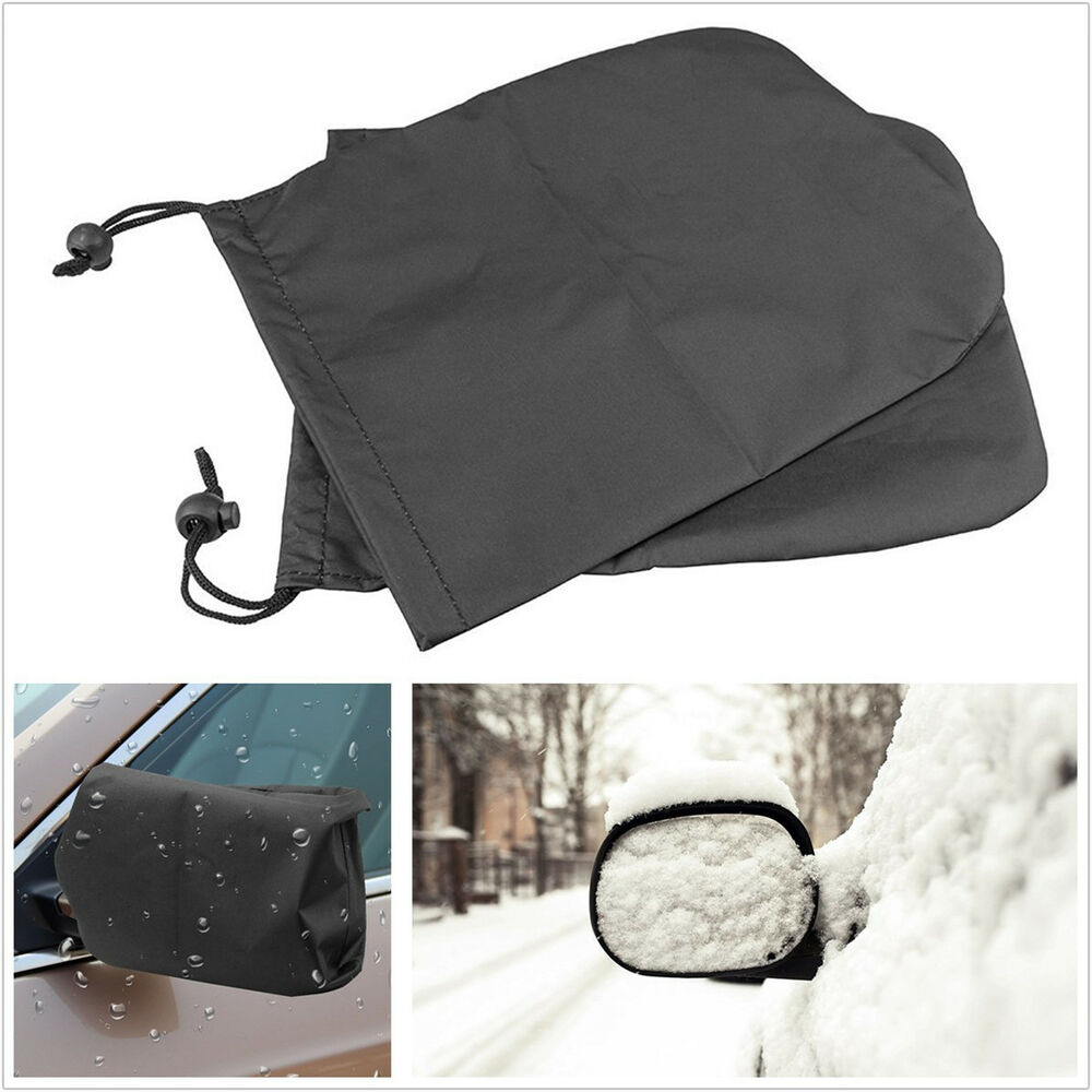 Snowmobile Side Mirrors : Car side mirror snow covers protect auto rear view mirrors