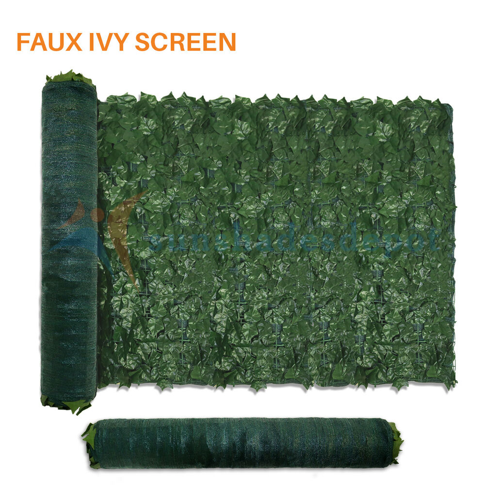 Privacy screen for chain link fence ebay - Artificial Green Ivy Leaf Privacy Fence Screen Decoration Panels Wall Cover Gate